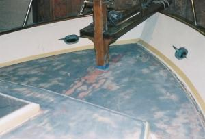 Boat repairs, refinishing and maintenance by Miliner Marine Services, Eliot, Maine, USA